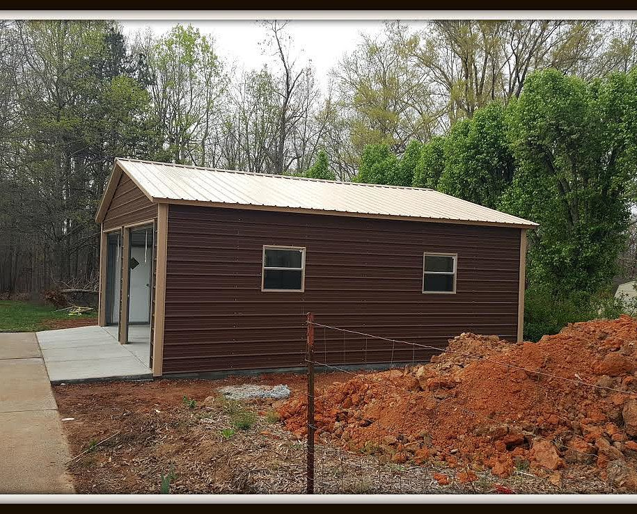 14 24'Wx26'Lx9'H Garage Vertical Roof Metal structure