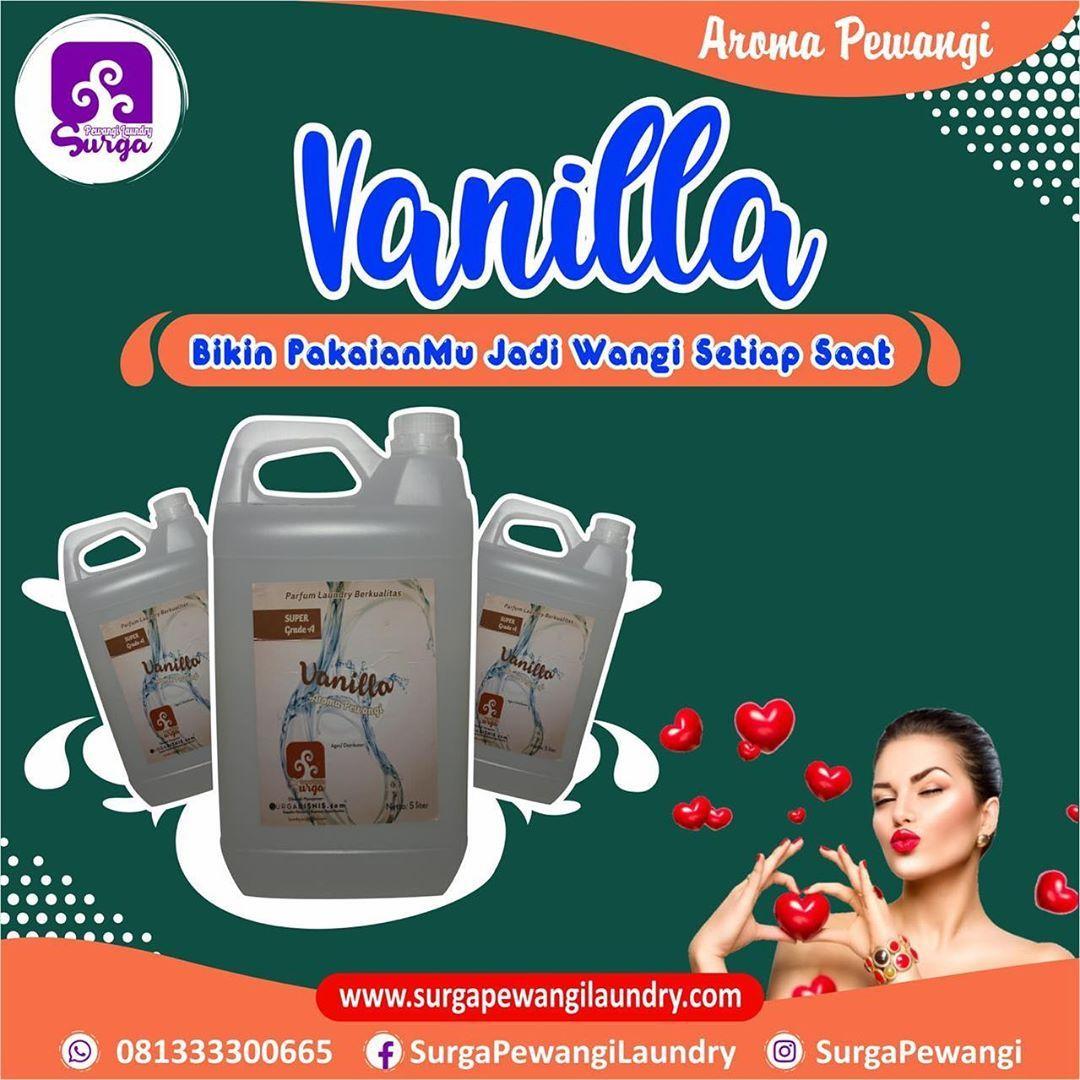Parfum Laundry/Pewangi Laundry Vanilla menjadi aroma