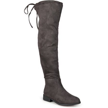 Brinley Co. Womens Faux Suede Over-the-knee Boots, Women's, Size: 7, Gray