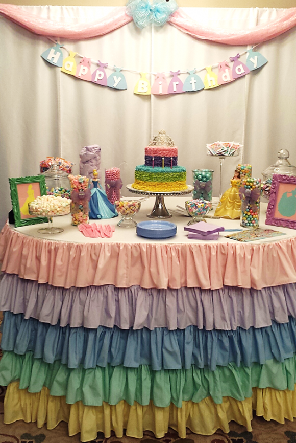 a princess tea party childrens birthday party girls birthday party ideas ruffled table