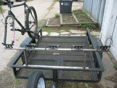 Fork Mount Bike Rack For Mounting On Trailer Offroad
