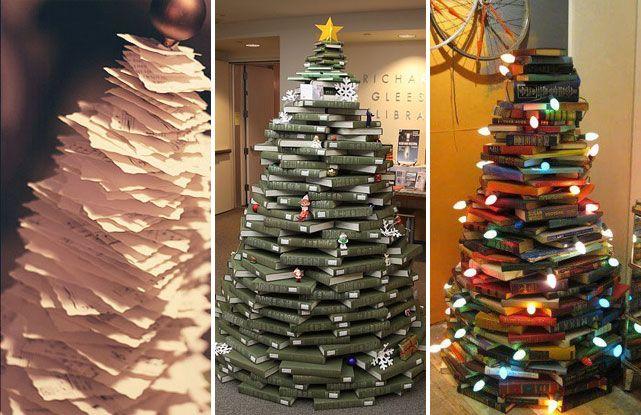 Árboles de Navidad DIY con libros CHRISTMAS Pinterest