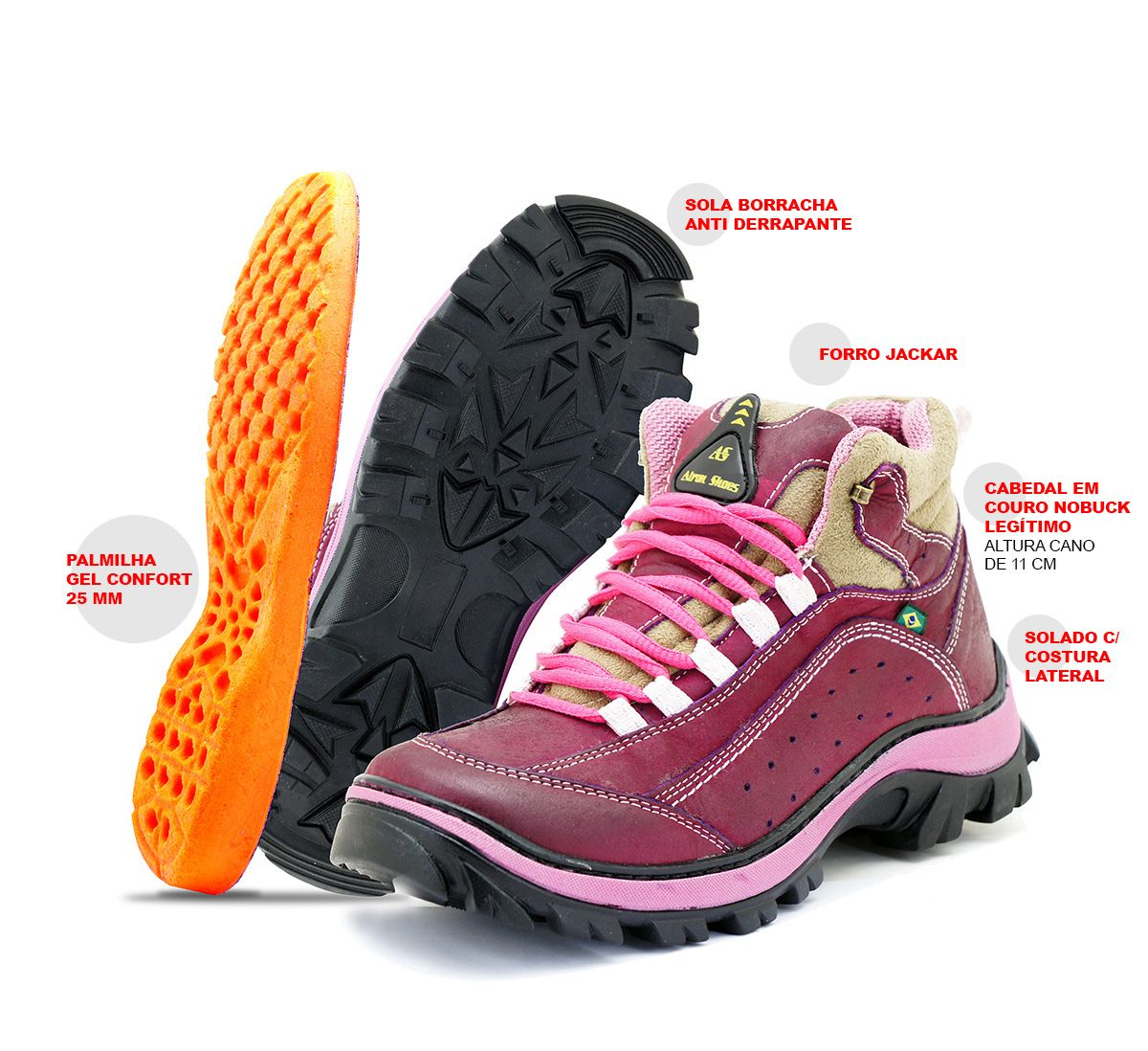 153ee1978ed Bota Adventure Atron Shoes- 019 -Bordô