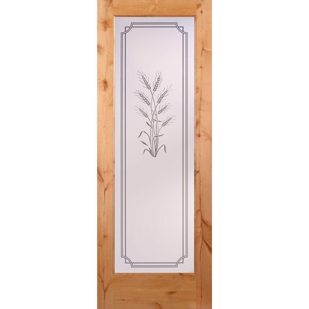Feather River Doors 30 In X 80 In 1 Lite Unfinished Knotty Alder Harvest Woodgrain Interior Door Slab Knotty Alder Ready To Stain Interior Led Lights Discount Interior Doors Interior