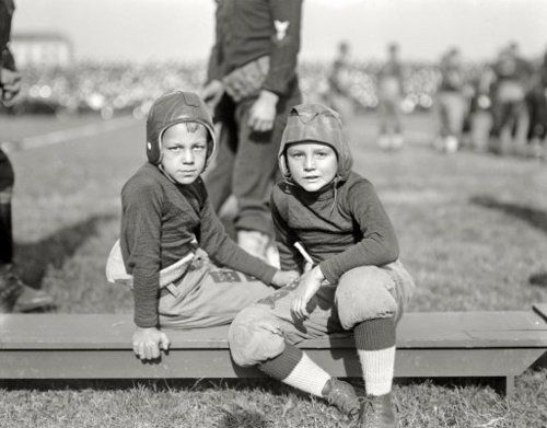 1922 - The evolution of Football equipment. http://www.hipswap.com/pats-patriots-helmet-football-sports-man-cave-throwback-nfl/new-england-revolution-patriots-throwbac
