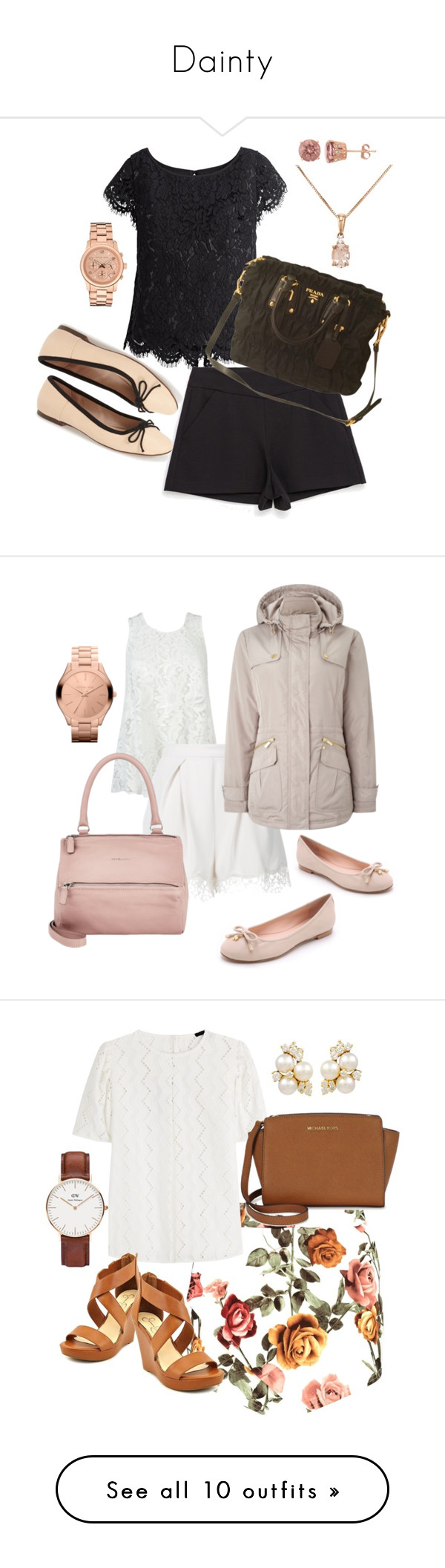 """Dainty"" by vien-resu ❤ liked on Polyvore featuring White House Black Market, Zara, Topshop, Prada, David Tutera, Michael Kors, Ermanno Scervino, Zimmermann, Dash and Givenchy"