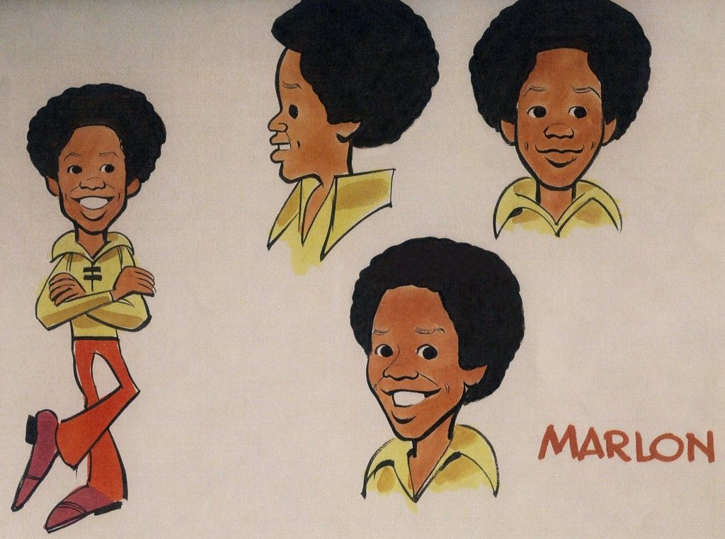 Jackson 5 Cartoon Characters : Jack davis original character studies of marlon jackson