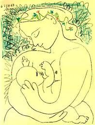 warm motherly love...  a work by Pablo Picasso