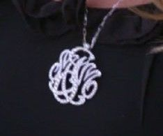 Alexis' necklace from the housewives of OC. I loooove that it has her kids initials.  And I also love that it's 7 carats! OMG!!!!