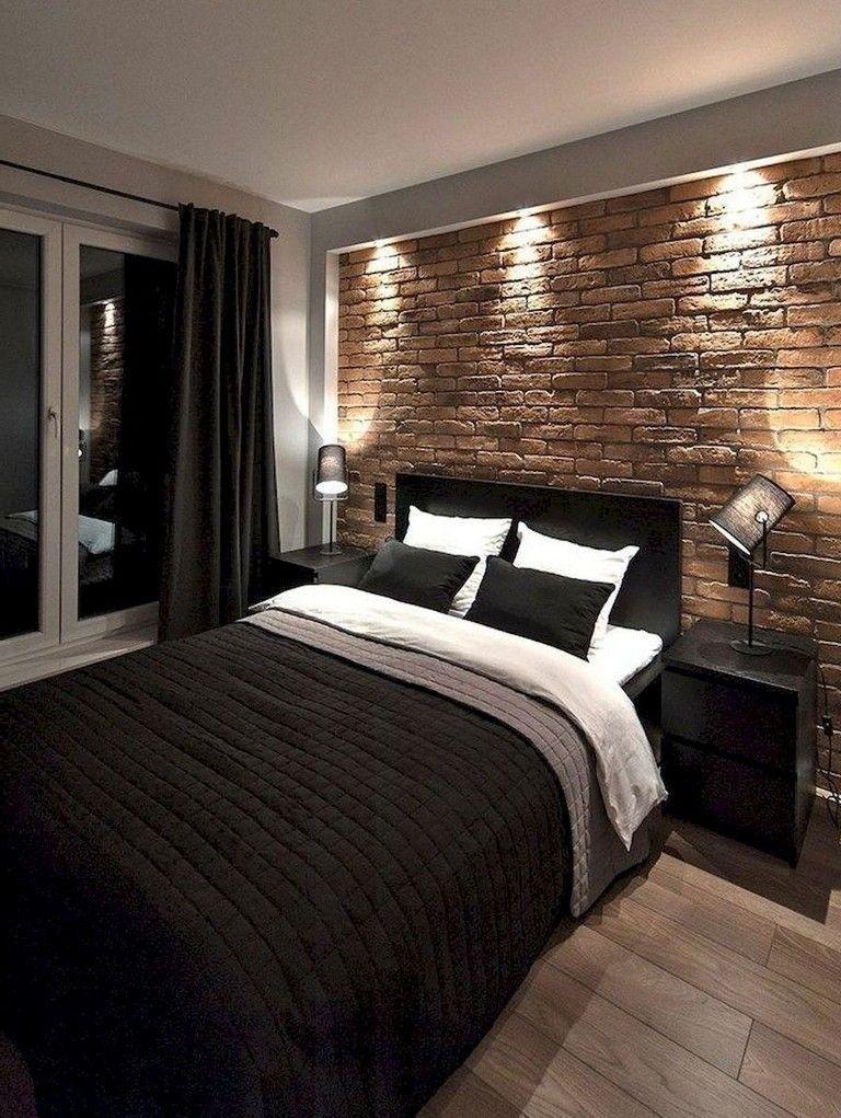 Idea by Desi Kuzmanova on Home Brick wall bedroom
