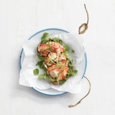 Open Faced Lobster Rolls with Avocado Spread Recipe - Delish.com