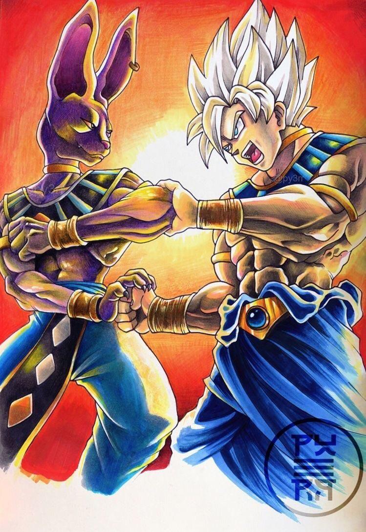 Goku Vs Beerus Dragon Ball Art Anime Dragon Ball Super Dragon Ball