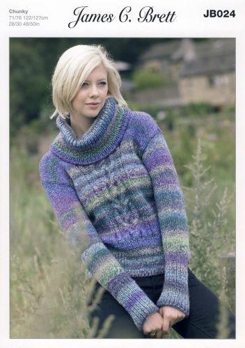 James Brett Marble Chunky Knitting Pattern Jb024 Sweater Projects