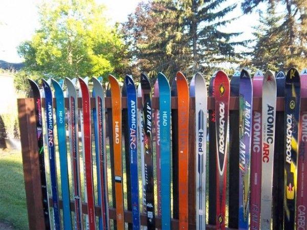 Snow Ski Fence Diy Fence Diy Backyard Fence Fence Design