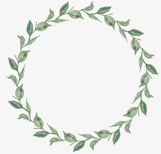 Wreath, Hand Painted, Leaf PNG Transparent Image and Clipart