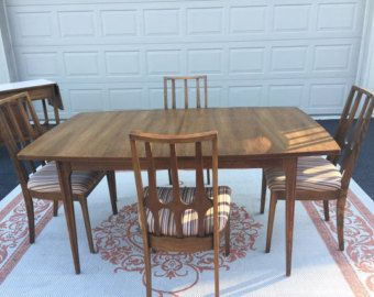 Broyhill Affinity Dining Room Set Mid Century Modern Dining Table Garrison Round Broyhill Brasilia