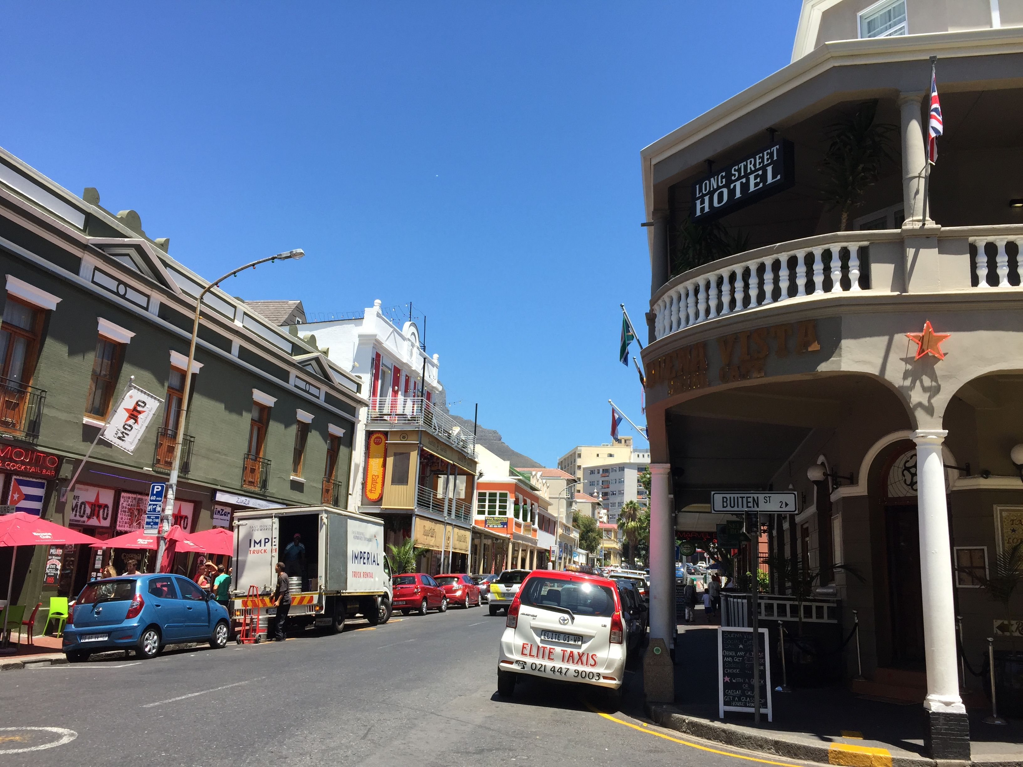 Old buildings in Long St, Cape Town