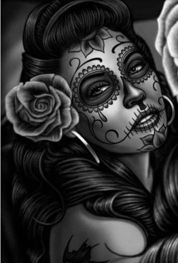 dia de los muertos la catrina pinterest mexikanische. Black Bedroom Furniture Sets. Home Design Ideas