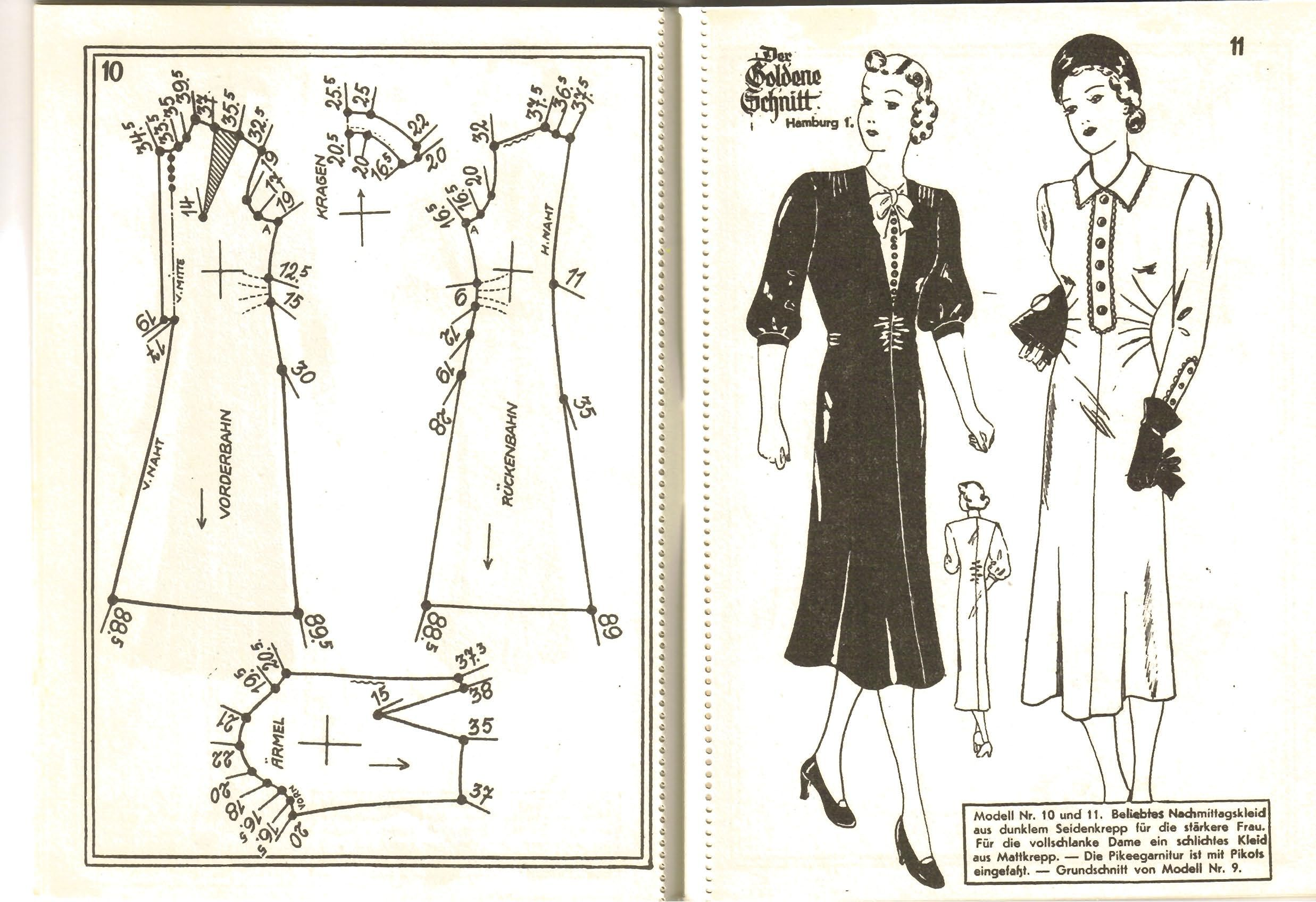 Lutterloh 1939 Book Of Cards - Models Diagram Card Page 10 & 11