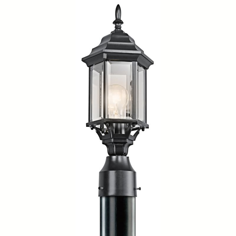 Kichler 49256 chesapeake 1 light outdoor post light black painted outdoor lighting post lights