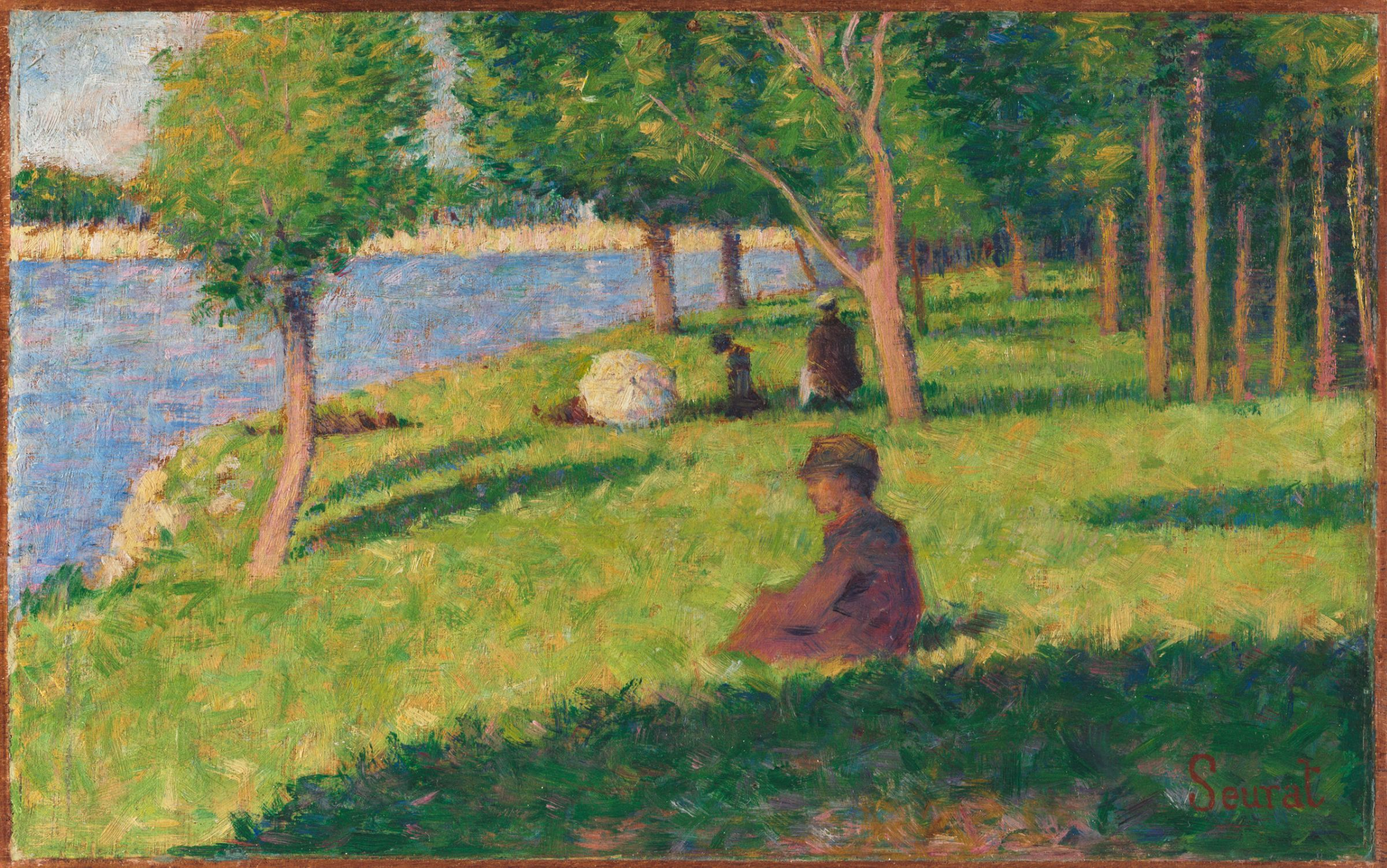 georges seurat a sunday on la Georges seurat is the pioneer of technique of painting in softly flickering, small dots or strokes of color, called pointillism share  while pictures like sunday afternoon on the island of la grand jatte (1884) have since become widely popular icons key ideas.