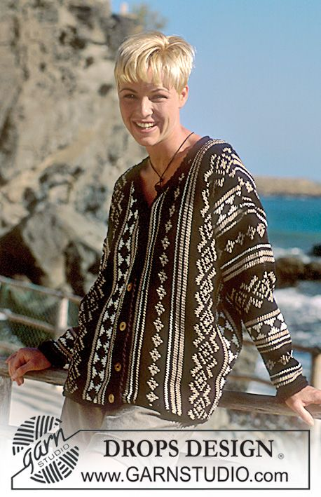 DROPS 41-15 - DROPS jacket in Paris knit sideways - Free pattern by ...