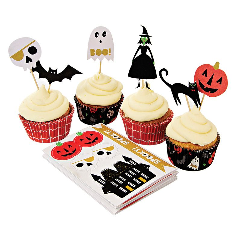 Something Wicked Halloween Cupcake Kit Halloween Party Ideas - halloween cupcake decor