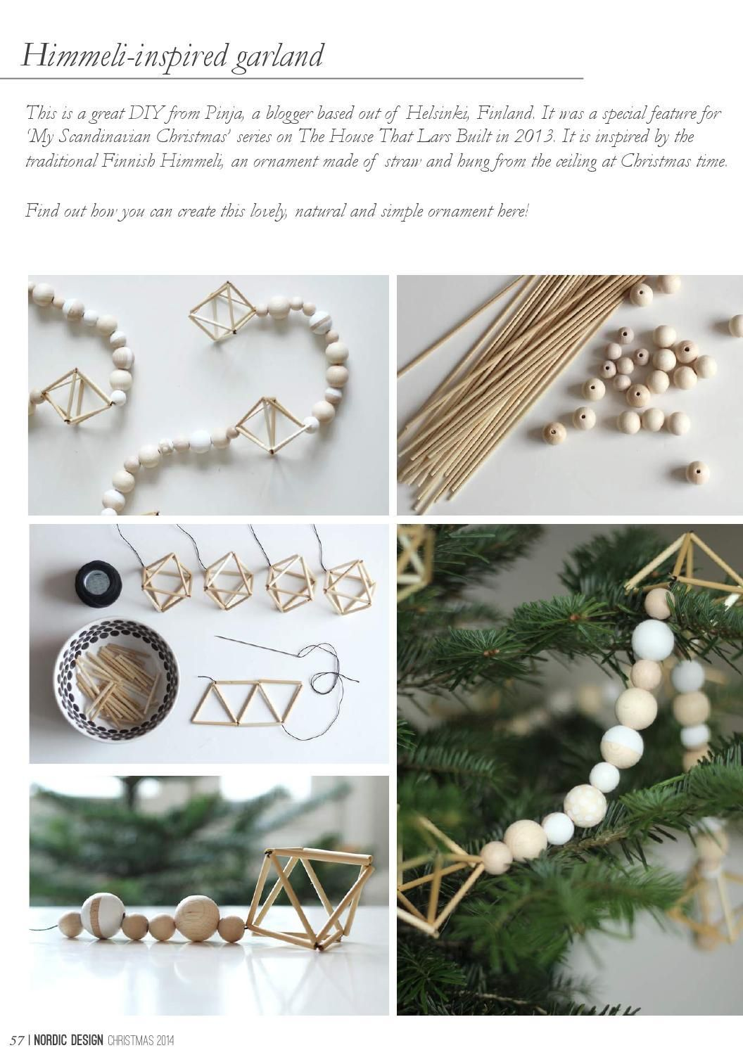 Craft himmeli inspired garland Design Pinterest