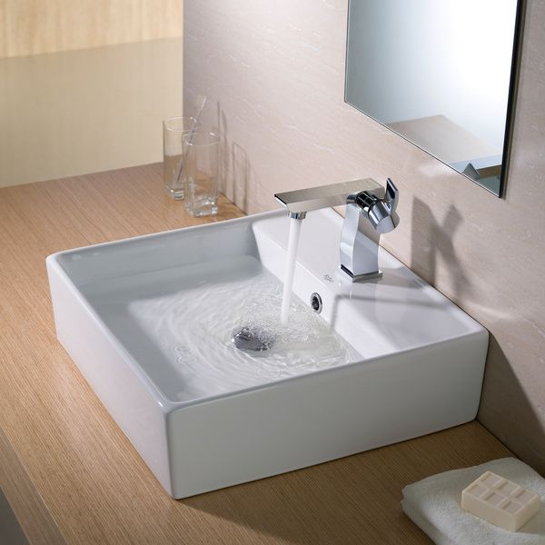 White Ceramic Vessel Sink - Home Design Ideas and Pictures