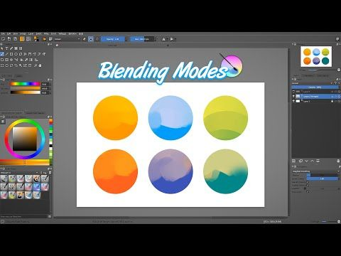 Krita Tutorial Understanding Krita S Blending Modes Youtube In