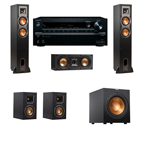 Klipsch R26F Floorstanding Speakers 51 R12SW Onkyo TXNR646 Visit The Image Link More Details Note Its An Affiliate To Amazon
