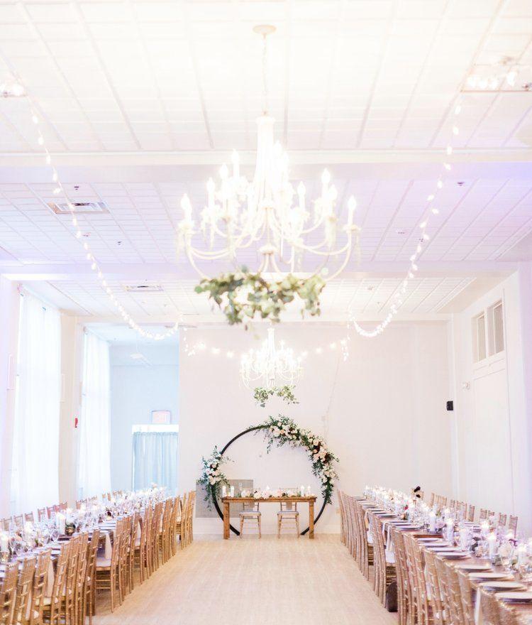 Blush Burgundy Greenery Wedding Florals By Pistil Pollen Ceremony At The Wilder Room Rec Wedding Venue Upstate Ny Ny Wedding Venues Upstate Ny Wedding
