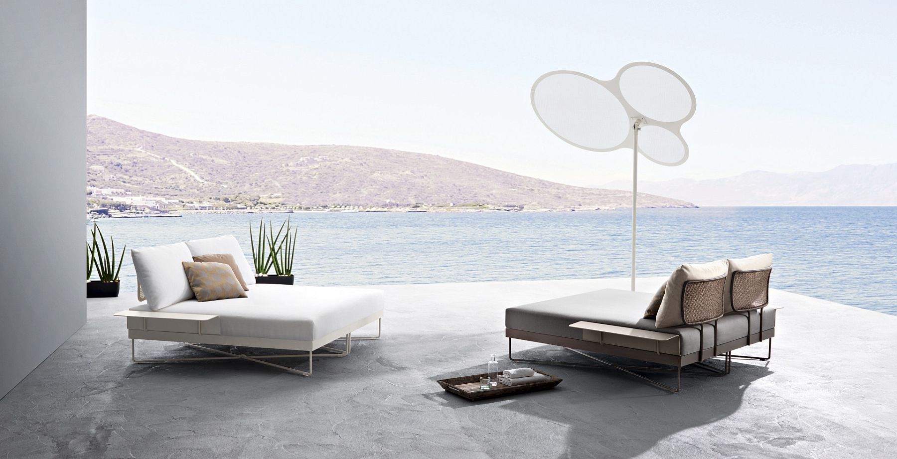Minimal And Sophisticated Outdoor Furniture Collection With