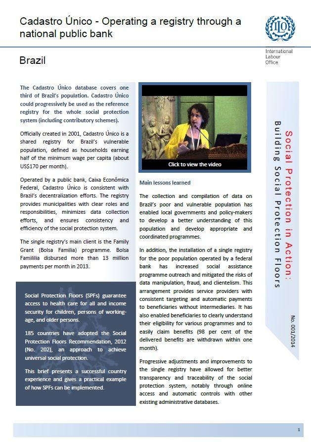 ilo international labour organization 2014 brazil cadastro