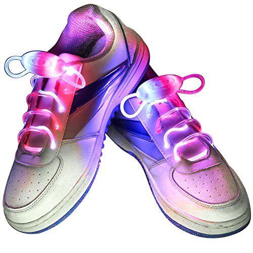 Xiaokesong® Ein Paar Glowing Flash LED Blinklicht Leuchtende Schuhbänder Schnürsenkel (Blau&Rosa) - http://uhr.haus/xiaokesong-3/blau-rosa-xiaokesong-ein-paar-glowing-flash-led