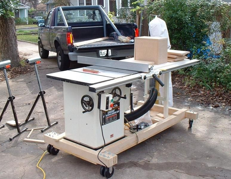 Contractor Table Saw Mobile Base Plans Woodworking Table Saw Table Saw Woodworking Table