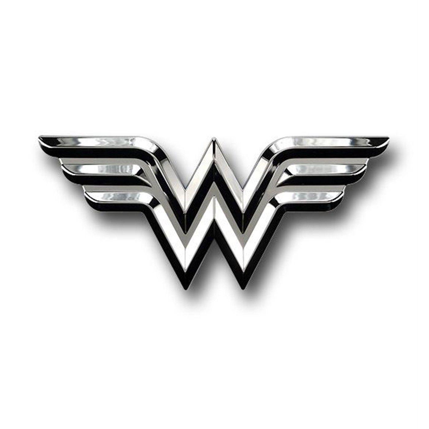 Wonder Woman Chrome Symbol Car Emblem Car Emblem Wonder Woman Tattoo Symbols [ 1400 x 1400 Pixel ]