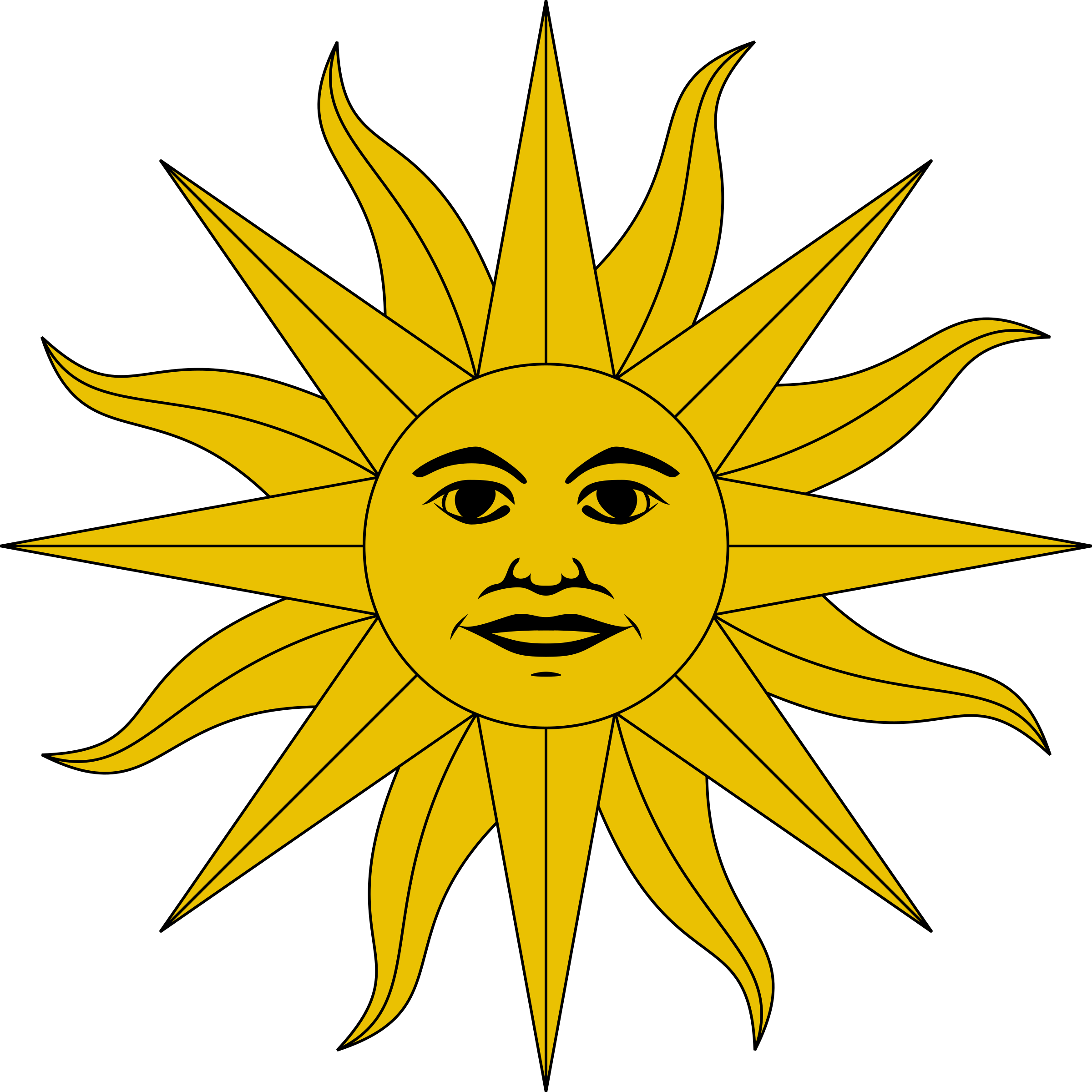 Sun Symbol 2 By Firkin Clipped From A Public Domain Drawing Of