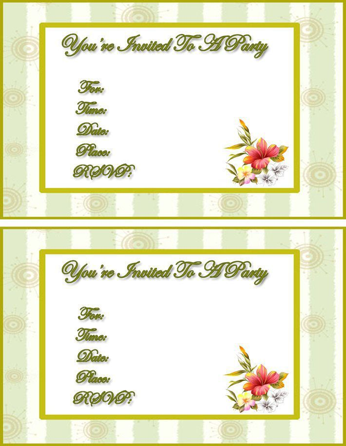 free online invitation templates printable Invitations card