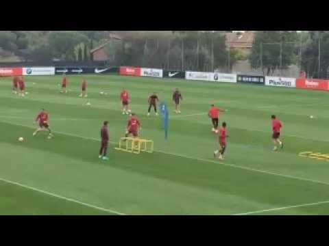 Ejercicios En Circuito Y Coordinacion : Circuito de futbol pases saltos y coordinacion atletico de madrid