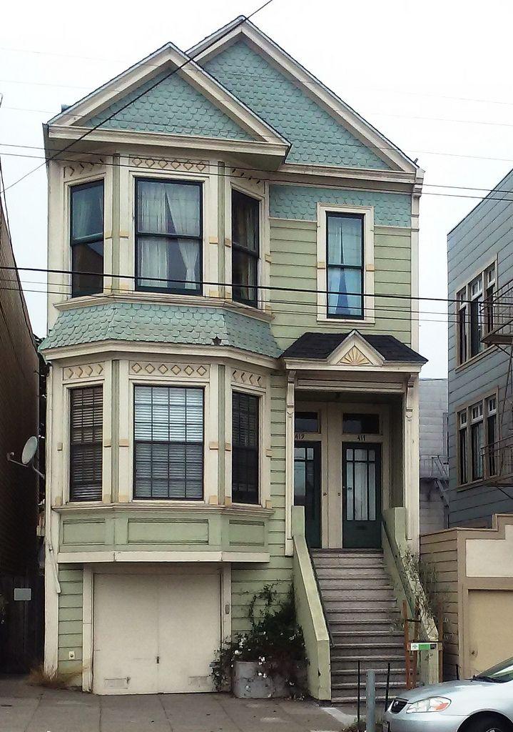 Delightful Queen Anne Style Duplex By Eric Via Flickr: 417 / 419 10th Avenue, Inner · Victorian  HousesQueen AnneSan ... Design