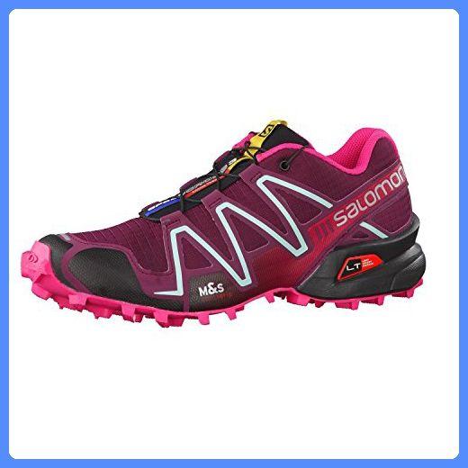 effebe51dde7 Salomon Speedcross 3 Trail Running Shoe - Women s Bordeaux Hot Pink Lotus  Pink 12