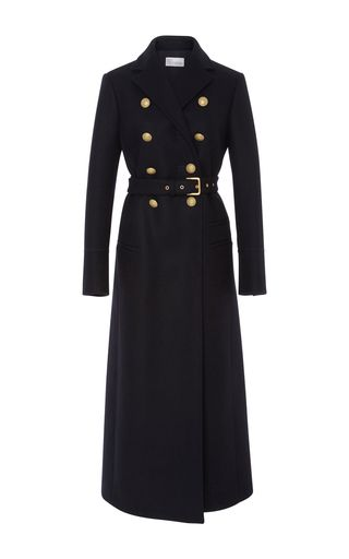 Crest Button Long Coat by RED VALENTINO for Preorder on Moda Operandi