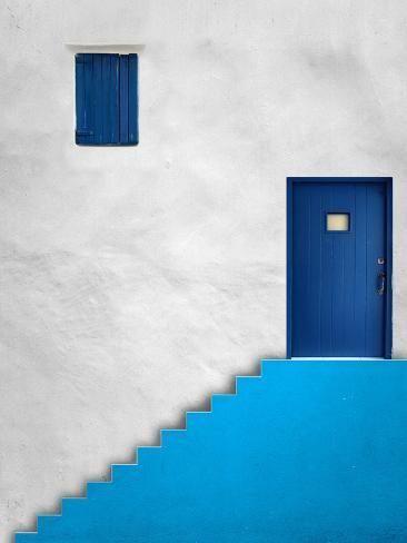 'Blue House' Photographic Print - Alfonso Novillo | Art.com