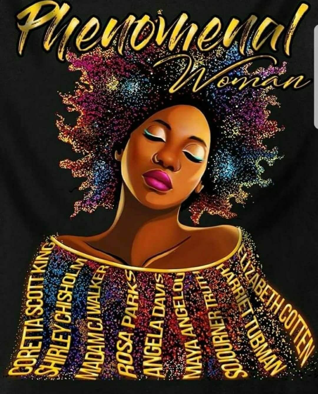 Phenomenal Woman Black Girl Art Black Love Art Black Women Art