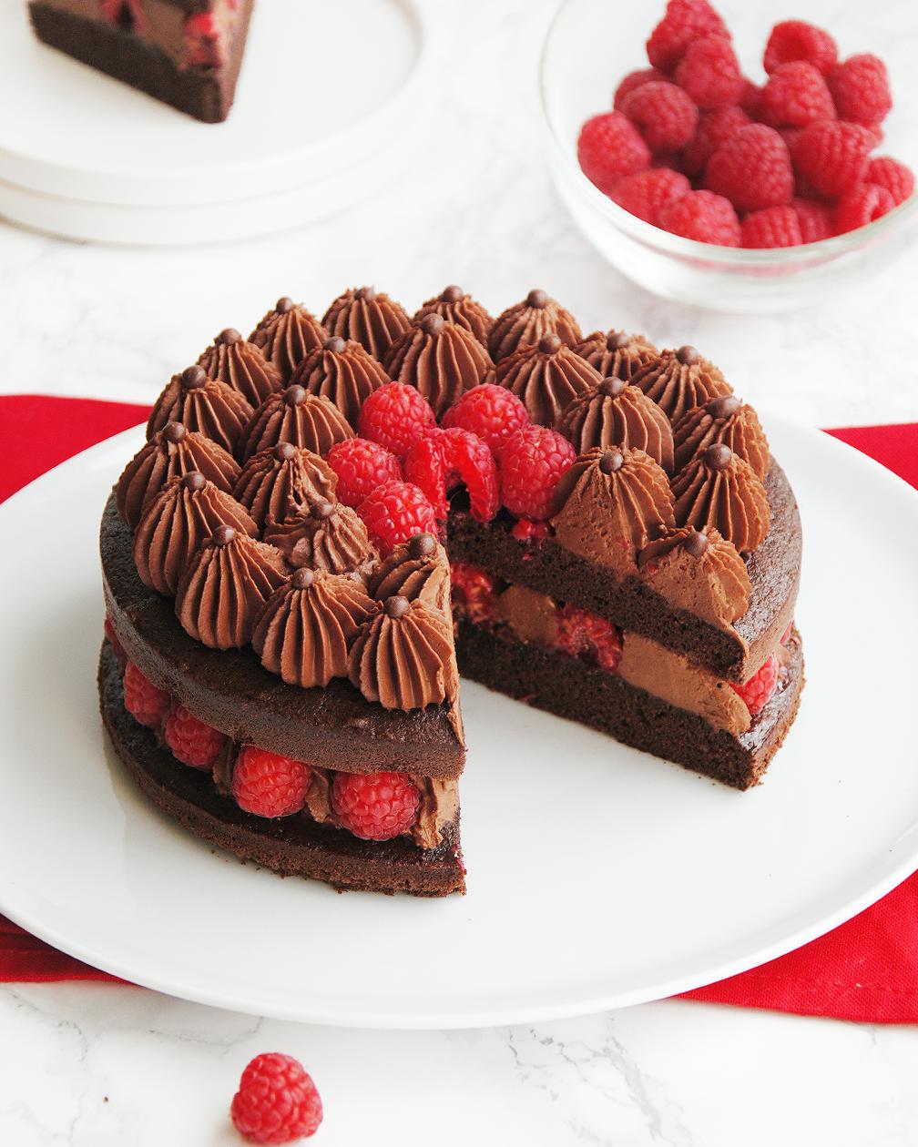 Layer Cake Chocolat Framboise Cake Chocolat Chocolat Framboise Gateau Moelleux