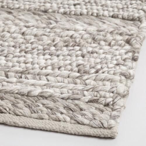 Cosy Textured Wool Rug: Our Handwoven Wool Rug Boasts A Plush Underfoot Feel With