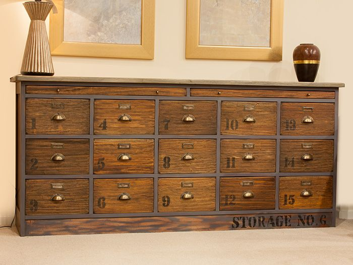 Industrial Look 15 Drawer Chest