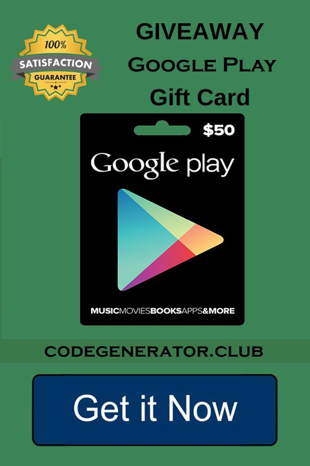 free redeem code for play store