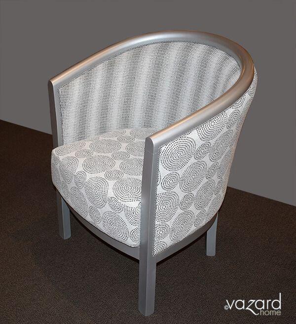 fauteuil julien cabriolet tissu gris carcasse argent classique revisite vazard home astuces. Black Bedroom Furniture Sets. Home Design Ideas
